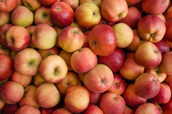 Apples in a market stall Royalty Free Stock Photography