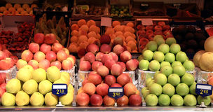 Apples Market Stall Stock Image