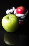 Apples and measurement Stock Photo