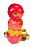 Apples and measuring tape Royalty Free Stock Photo