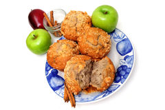 Apples and Muffins royalty free stock photos