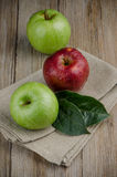 Apples in a napkin Stock Photos