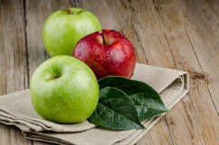 Apples in a napkin Stock Photography
