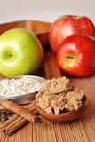 Apples and oatmeal with spices Royalty Free Stock Images
