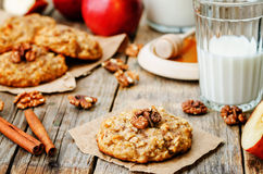 Apples oats cinnamon cookies Stock Image