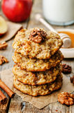 Apples oats cinnamon cookies Royalty Free Stock Photos