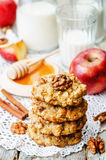 Apples oats cinnamon cookies Royalty Free Stock Photography