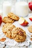 Apples oats cinnamon cookies Stock Images