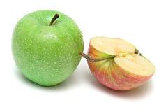 Apples On White Stock Photography
