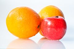 Apples and Orange Royalty Free Stock Image