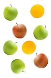 Apples and orange Royalty Free Stock Photography