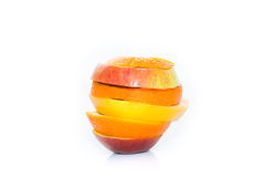 Apples, orange and citrus fruit isolated Royalty Free Stock Photo