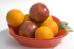 Apples and oranges Royalty Free Stock Image