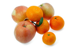 Apples and oranges Stock Images