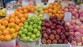 Apples and Oranges royalty free stock photography