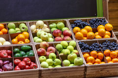 Apples, oranges, grapes, pears, and other fruits and vegetables Royalty Free Stock Image
