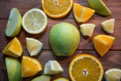 Apples, oranges and lemons Stock Photo