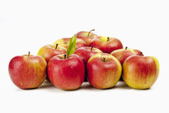 Apples organized in triangle shape Royalty Free Stock Photo