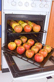 Apples in the oven Stock Photography