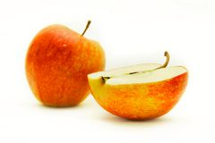 Apples over white Stock Images