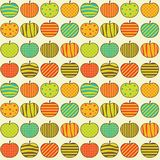 Apples_pattern. Seamless retro pattern with apples Royalty Free Stock Image