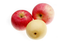 Apples and pear Stock Photos