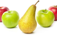 Apples and pear Royalty Free Stock Photo