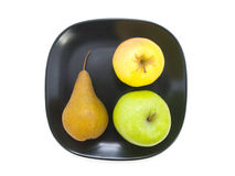 Apples and pear Stock Images