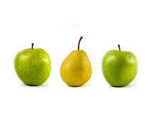 Apples and pear Stock Photo