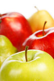 Apples and pears Stock Images