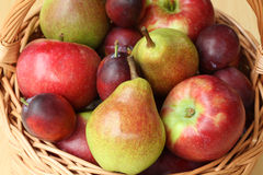 Apples and pears Royalty Free Stock Photos