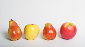 Apples and pears Royalty Free Stock Photography