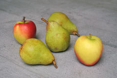 Apples and pears Royalty Free Stock Photo