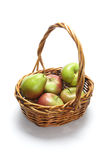 Apples and Pears in Basket Royalty Free Stock Image