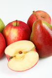 Apples and pears. A few fruits with white background Royalty Free Stock Photos