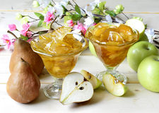 Apples and pears. royalty free stock photography