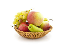 Apples, pears and grapes Stock Photography