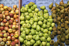 Apples and pears at the market Royalty Free Stock Image