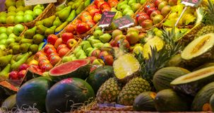 Apples Pears and Melons royalty free stock image