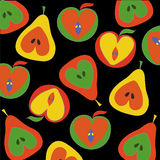 Apples and pears pattern Royalty Free Stock Photo