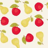Apples and pears seamless pattern Royalty Free Stock Images