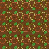 Apples and pears seamless pattern. Vector Illustration royalty free stock photography