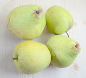 Apples and pears. On a wooden table top Stock Photo
