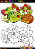 Apples and Pie for coloring Stock Images