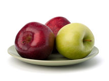 Apples pile on plate Royalty Free Stock Photography