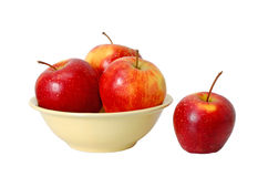 Apples on the plate Royalty Free Stock Images