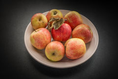 Apples at the plate. Royalty Free Stock Photos
