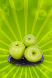 Apples on a plate Stock Image
