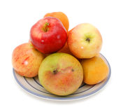 Apples and plum,  pomelo, mango Royalty Free Stock Photo