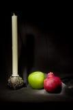 Apples and pomegranate. Jewish New Year traditional celebration Stock Photo